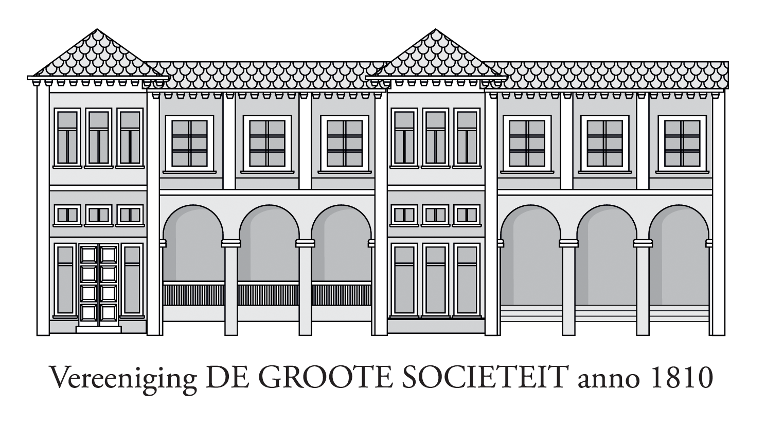 De Groote Sociëteit anno 1810